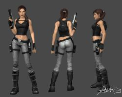XNA Lara - Jungle Metal by SeventhLife