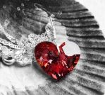 Swarovski Red Magma Heart Crystal Necklace by crystaland