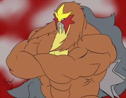 Entei Beefcake by GoldPaladinSevlow