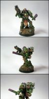 Nurgle Space Marine champion by razzminis
