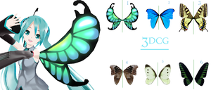 MMD- Butterfly Wings -DOWNLOAD by MMDFakewings18