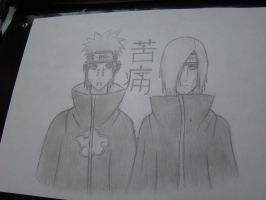 Pain and Nagato by MysteriousHat