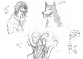 CreeepyPasta sketches 1 by darkangel6021