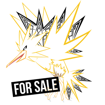 Zapdos Tribal Lineart by criticalcreations