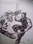 WOLVERINE VS ...YOU KNOW WHO by DEVMALYA
