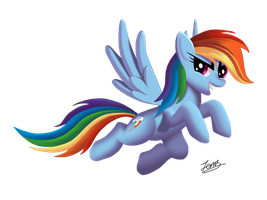 Rainbow Dash (without background) by Duskie360