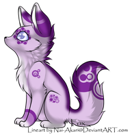 Purple bubbly fox adopt (TAEN) by Silversadopts
