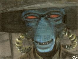 cad bane sketch card by slave-roc