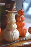 1:12 Scale Stacked Pumpkin Decorations by abohemianbazaar