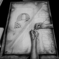 The hands drawing by Galbatore