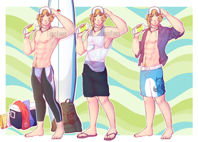 [Pokedhen] Beach Outfits by ToxicPinku