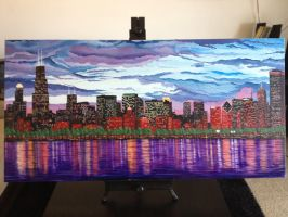 Chicago Skyline by inkone37