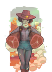 cowgirl  after hunting by Mireys