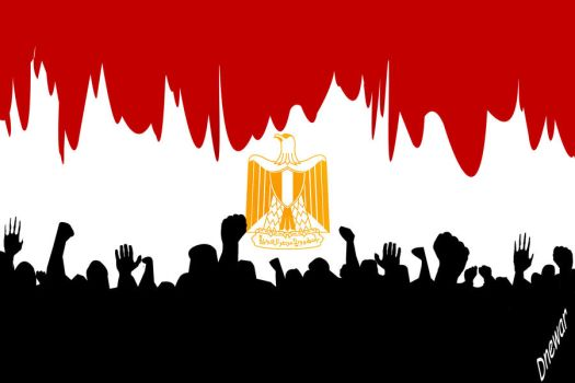 egypt's flag by booode
