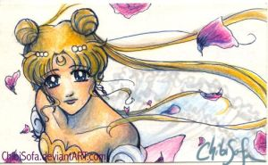Princess Serenity Art Card by ChibiSofa