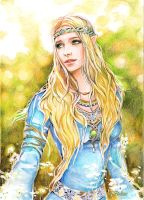 Idril with a Green  Gem by Venlian