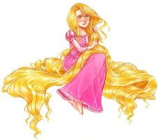 Rapunzel again by courtneygodbey