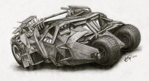 The Batmobile by vivsters