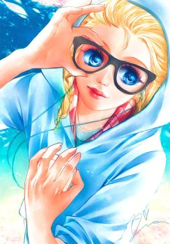 Elsa the Hipster Student by Yinamon