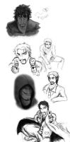 July 2011 Sketchdump by TheCrimsonCrow