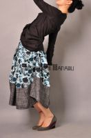 Blue Victorian Pleated Skirt18 by yystudio