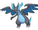 Mega Charizard X Sprite. Generation VI by The-National-Pokedex