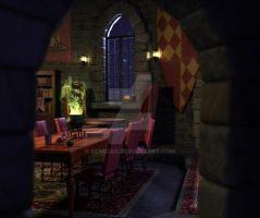 Gryffindor common room 3D 2 by remidar