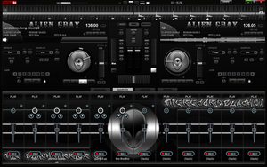 Skin Alien Dark For Virtual DJ 7 2012 by THERECORDBLACK01