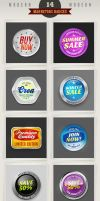 14 Modern Marketing Badges by hugoo13