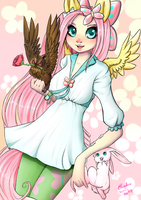 Fluttershy anthro by Caindra