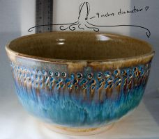 A really big flowing blue bowl by Frost-indri