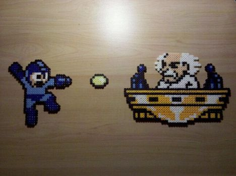 Mega Man vs Wily by metalhedx