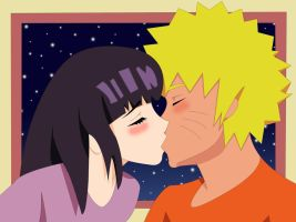 naruhina kiss by theDemontwin