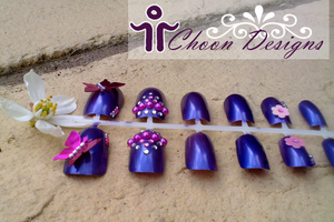 False Nails: Princess Butterfly by ChoonDesigns