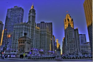 View down Michigan Ave. HDR by TrentLarsonphoto