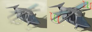 Ornithopter Concept 1.1 rough by Sketchphase
