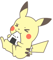 Hungry Pikachu by Chibidachi