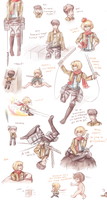 SnK game sketchdump by SunnyVaiprion
