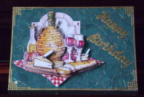 Cheese and Wine Card by blackrose1959