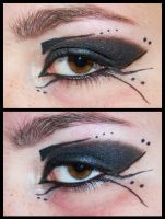 Aurelia87's Goth Prom Make Up by Kritschie
