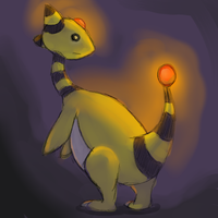 Ampharos lurking in the dark by cartoonboyplz