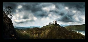 Medieval Landscape by Hourences