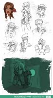 Sketch Dump - FFVII Special by Cabycab