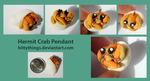 Sea Pendants - Hermit Crab - SOLD by Bittythings