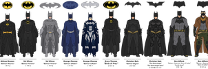 The Batman Live-Action Batsuit Evolution by efrajoey1