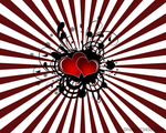 Grunge Vector Hearts Wallpaper by hello-123456