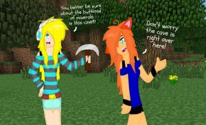 Minecraft Comic: United Miners Page 1 by TigerLily45