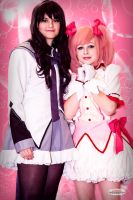 Madoka and Homura by cflierl53