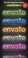 3D Glowing Text Styles by stefusilviu