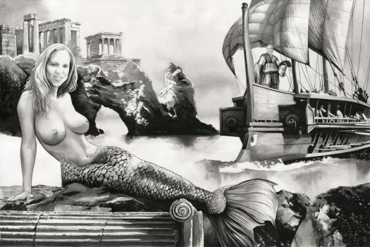 The Mermaid (Sold) by dimitriskoskinas
